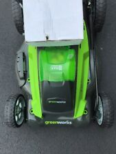 Greenworks Push Lawn Mower Only Behind 19 in.40V LithiumIon Bag Mulch3-in1