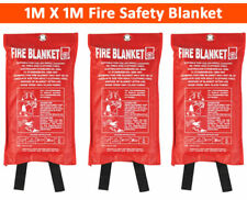 2x Large Fire Blanket 1m x 1m Safety Quick Release Home Kitchen Office Caravan