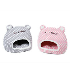 Winter Pet Dog Cat Sleeping House Bed Igloo Kitten Soft Warm Cave Cute Design