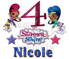 Shimmer and Shine Sparkle Party PERSONALIZE Add Name Custom Birthday T-shirt