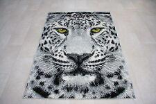 Quality Grey Green Eye Leopard Rug 120cm x 170cm Jungle Safari Animal Print 2