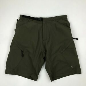 """REI Men Green Belted Padded Bicycle Shorts sz L (34x11.5"""")"""