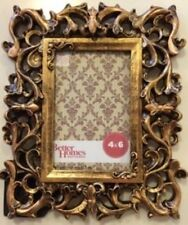 Better Homes and Gardens Picture Frame Photo Ornate Metallic Gold Bronze 4 x 6