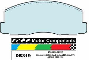 BRAKE PADS DB319 TO SUIT Mitsubishi NIMBUS,MAGNA, LANCER, GALANT, CORDIA  1982-1
