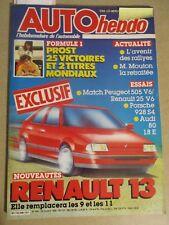 AUTO HEBDO: n°546: 29/10/1986: 505 V6 - R25 V6 - PORSCHE 928 S4 - AUDI 80 1.8 E