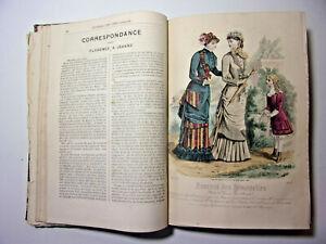 Mode. Journal des Demoiselles 1881. 21 Planches couleurs