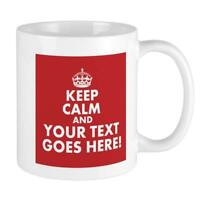 Keep Calm And Your Text Red Coffee Mug Cup 11Oz Ceramic Tea Mug 350 Ml