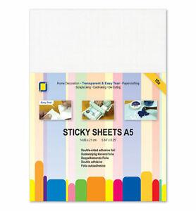 Sticky Sheets A5 10 doppelseitige Klebe-Folie Stanzhilfe transparent JEJE 3.3235