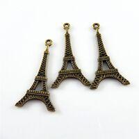 40 Stück Weinlese Bronze Ton Legierung Eiffel Turm Anhänger Charme Schmuck 32370