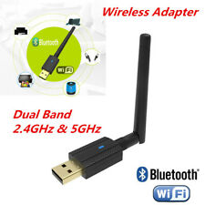 Bluetooth 4.2 2.4GHz & 5GHz Dual Band 600Mbps Wireless USB WiFi Network Adapter