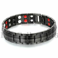 Men Women Double Magnet Wide Magnetic Therapy Bracelet Pain Relief for Arthritis