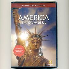 America: The Story of Us history documentary 2010, new DVD 3-disc set, over 9 hr