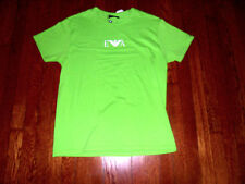 Emporio Armani Essentials 110810 Neon Green Stretch Fitted T Shirt Small