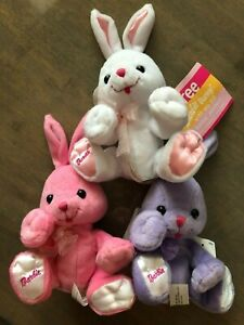 Barbie promotional Bunny vintage WHITE, PINK, PURPLE set of 6 NWOT, NWT