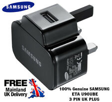 GENUINE SAMSUNG MAIN WALL CHARGER USB 3 PIN UK PLUG GALAXY TAB S3 S4 S5 IPHONE