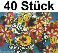 40x PIN CLIPS STICKER für CLOGS CROCS BLUME SMILIE DELFIN ANSTECKER Totenkopf