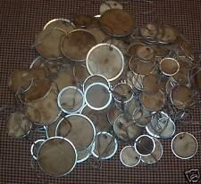 PriMiTive HanG TaGs MeTal RiM RouNd CirCle Grubby - 3 Different Sizes Stpc