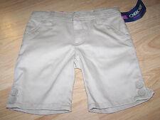 Girls Size 4 Cherokee School Uniform Shorts Khaki Tan Beige Adjustable Waist New