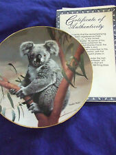 "1990 Charles Frace""The Koala""Nature'S Lovablescollectable Plate Wildlife Society"
