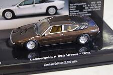 "Lamborghini Urraco 1972, marrón met ""museo Lamborghini"" 1:43 Minichamps nuevo & OVP"