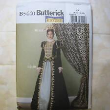 Butterick 5440 Renaissance Queen Layered Gown 6-12 New