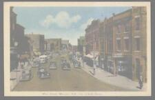 Postcard MONCTON, NEW BRUNSWICK/Canada  Main Street Business Storefronts 1930's