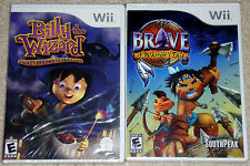 Nintendo Wii Lot - Billy the Wizard (New) Brave A Warrior's Tale (New)