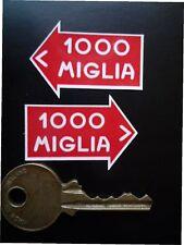 MILLE MIGLIA Passendes Paar 40mm Klassische Auto Aufkleber Rallye Rallye 1000