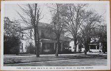 1930 AD Postcard: Park Tourist Home-Dalton, Georiga, GA