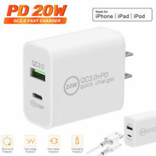 20W USB Type-C Wall Fast Charger PD Power Adapter For iPhone 12 Pro Max 11 iPad