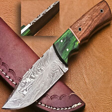 Rody Stan CUSTOM MADE DAMASCUS BLADE FULL TANG KNIFE - HARD WOOD - G-1050