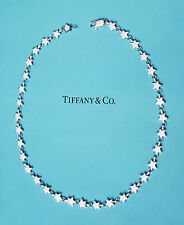 Tiffany & Co Sterling Silver Continuous Star Link Necklace