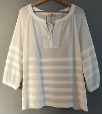 Jag White 3/4 Sleeve Blouse Top 10