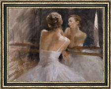 Original Oil Painting art female Impressionism ballet girl on canvas 30x40""