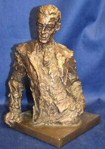 Impressionist Bronze Bust of a Man in 20th Century Garb