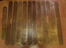 12 anciennes grandes  plaques proprete laiton epoque 1900 style Louis XVI