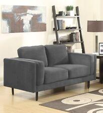NEAPEL 2er Sofa Couch Sofa Polstergarnitur hellgrau Polyester