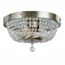 Hampton Bay 14 in. 3-Light Brushed Nickel Flush Mount with Crystal Accents