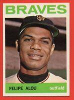 1964 Topps #65 Felipe Alou NEAR MINT+ PAck Fresh Milwaukee Braves FREE S/H