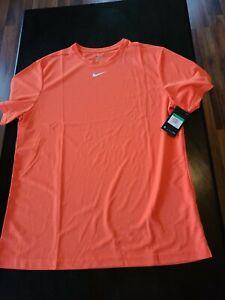 Nike DRI-FIT Orange Tshirts XL Shortsleeve Men's
