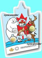 2019 Canada 6-Coin Set With Glow 50¢ Coin Canadian Coin Set - Everlasting Icons
