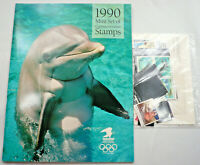 Sealed 1990 Commemorative Stamp Collection Yearbook USPS Mint Set with Stamps