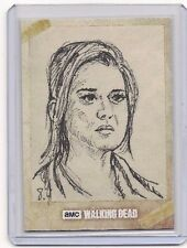 TOPPS WALKING DEAD SEASON 6 JESSIE SKETCH CARD ANTHONY SKUBIS AUTOGRAPHED 1/1!