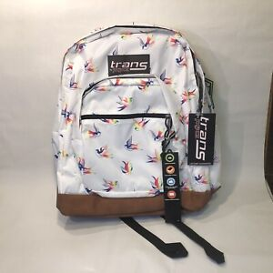 """Trans By JanSport 17"""" Super Cool Rainbow Birds Backpack"""