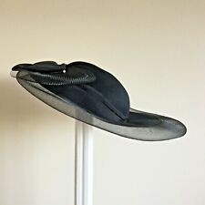 Beautiful Classic Connor Ladies Black Scull Cap Style Wide  Brimmed Wedding Hat