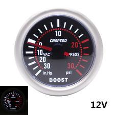 12V Car 52mm 2″ White Digital LED Turbo Boost PSI Meter Pressure Gauge+PVC Hose