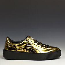Puma Basket Platform Metallic Damenschuhe Lack sneakers Gold 362339 04 NEU