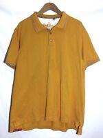 Robert Graham Polo Shirt Men's XL Short Sleeve Cotton Mustard Yellow