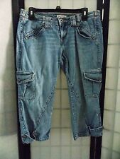 Tommy Jeans ~ Denim Cargo Capri's ~ Size 11