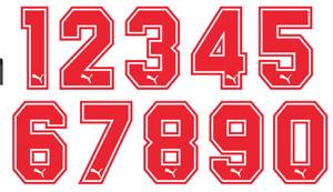 Felt 1970's 80's Football Shirt Soccer Numbers Heat Print Football Puma Style B